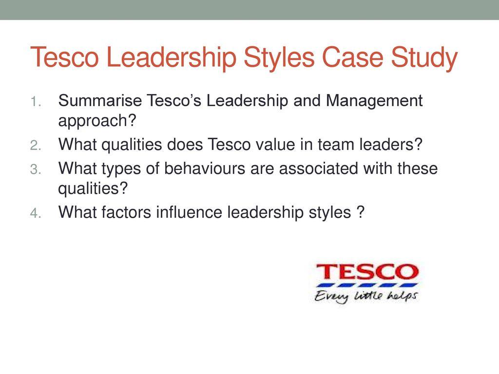 tesco leadership style