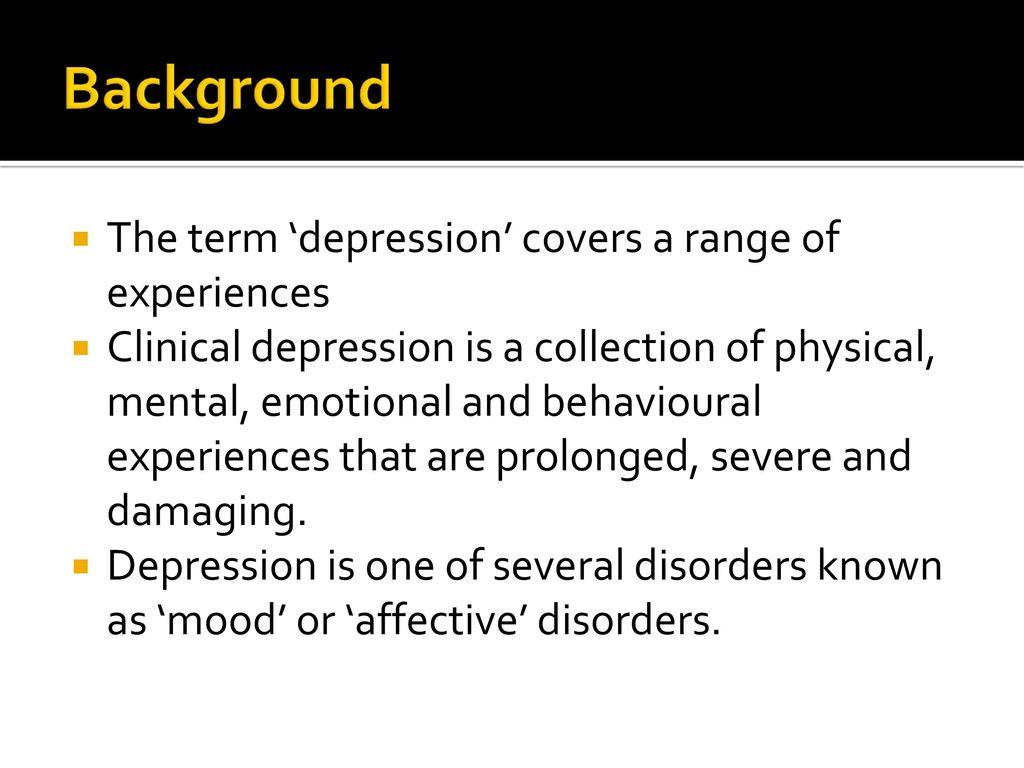 Depression Psychopathology Ppt Download