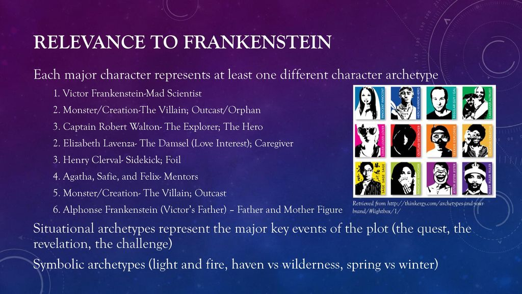 archetypes in frankenstein