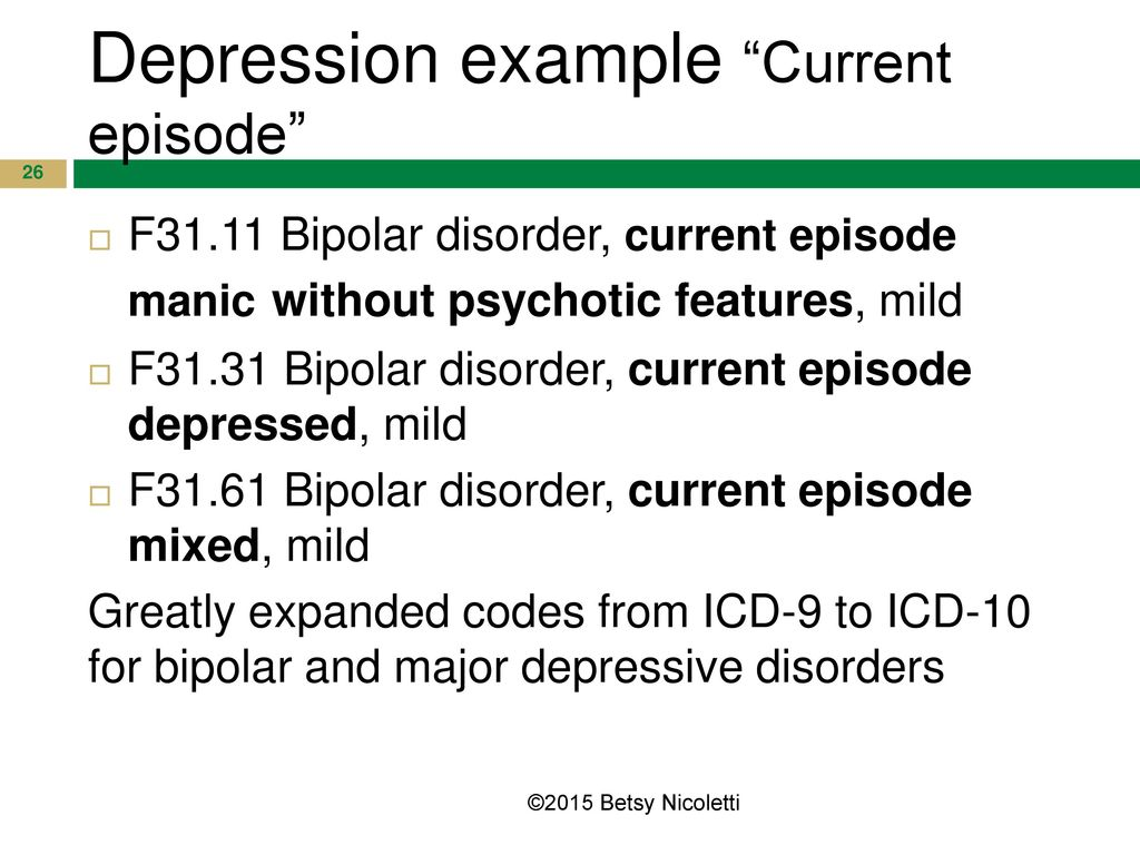 icd 10 cm coding for psychiatry and behavioral health ppt download26 depression example \u201ccurrent episode\u201d
