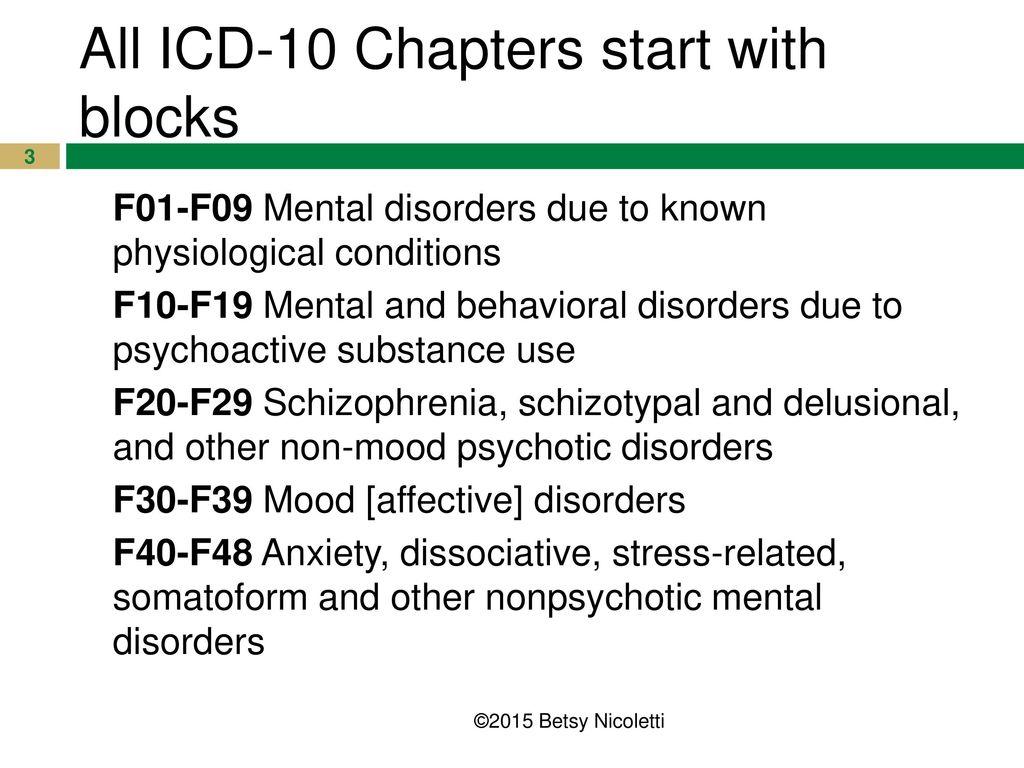 icd 10 code for schizophrenia