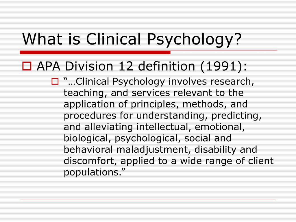 clinical psychology: a brief tour of the field - ppt download
