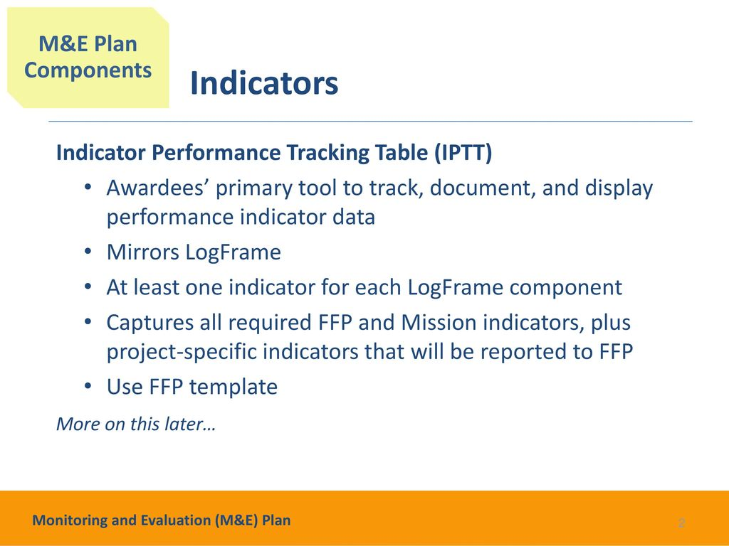 Monitoring And Evaluation Me Plan Ppt Download