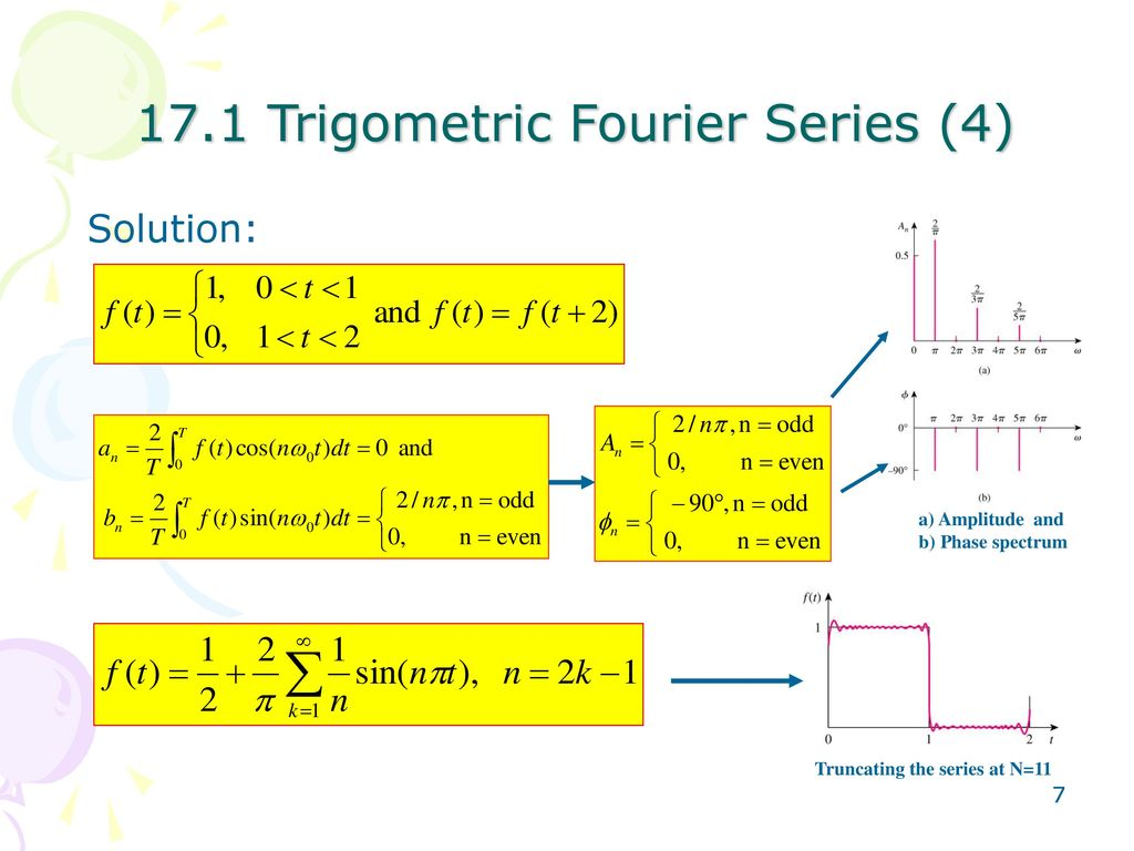 Chapter 17 The Fourier Series Ppt Download Superposition Principle And 171 Trigometric 4