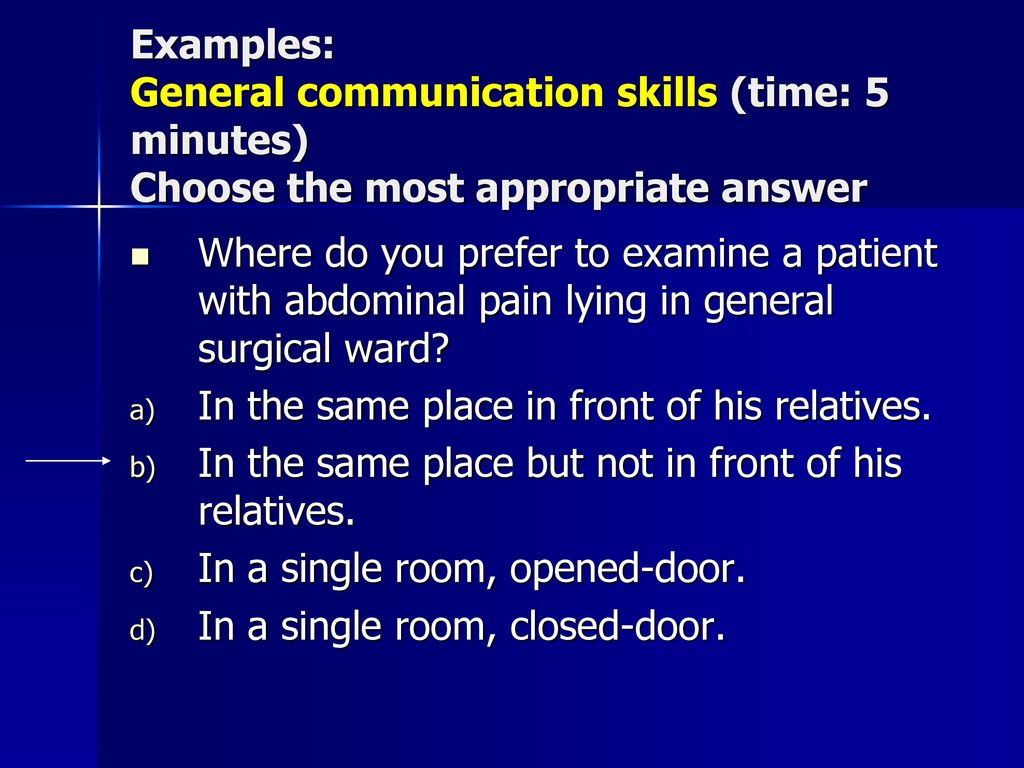 examples of general communication