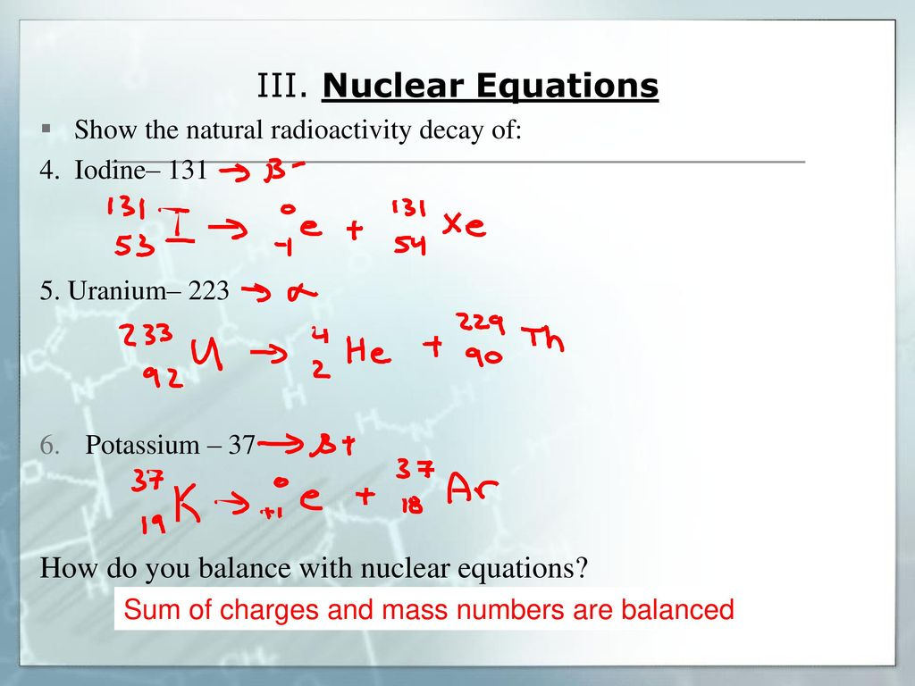 Unit 23: Nuclear Chemistry Topic 23: Natural Radioactivity - ppt Within Balancing Nuclear Equations Worksheet Answers