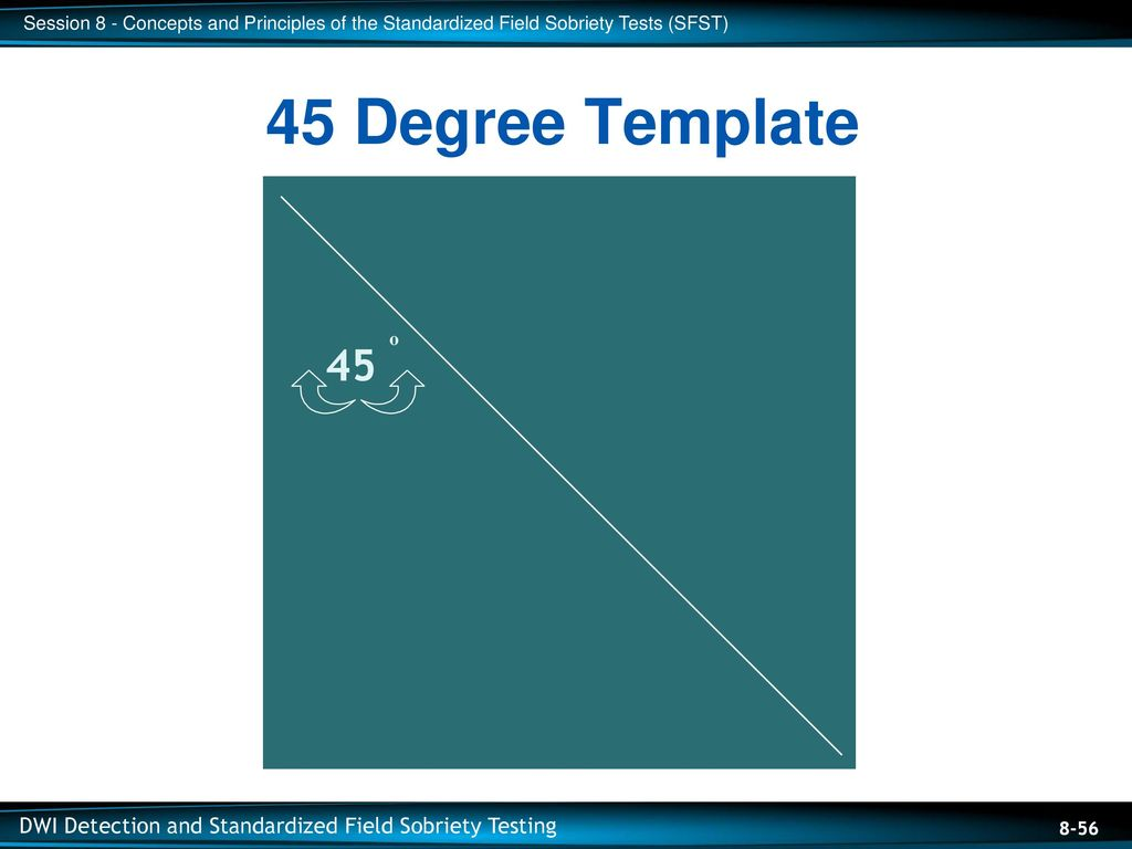 45 Degree Template 45 o Training Aid: The 45 Degree Template