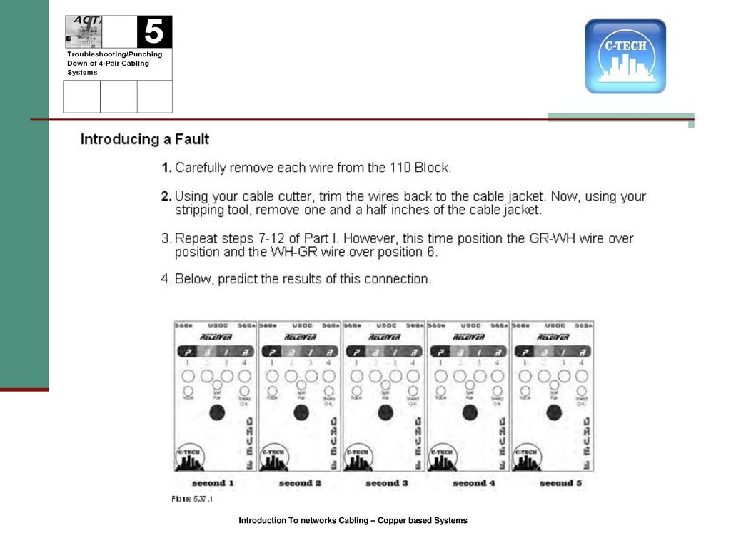 Introduction To Network Cabling Ppt Download Ethernet Plug Wiring Arrange Wires Per Eiatia T568b 55 1