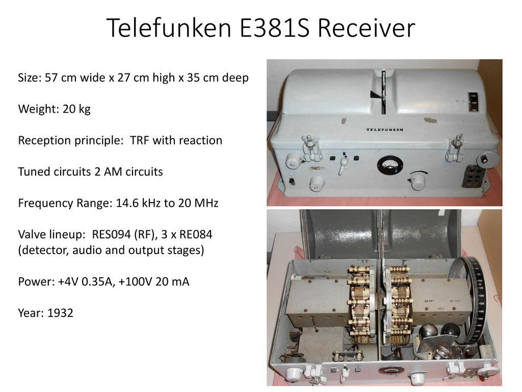 Personnel Equipment Procedures Ppt Download 25 Metres Range Short Wave Am Transmitter 22 Telefunken