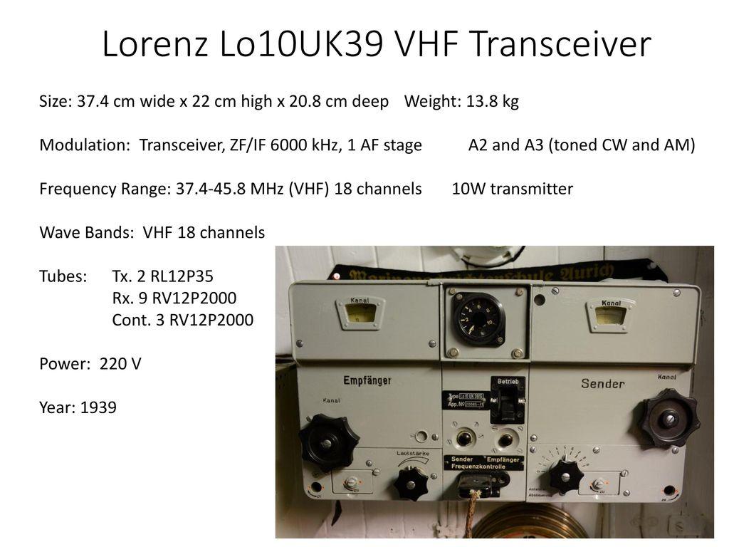 Personnel Equipment Procedures Ppt Download 25 Metres Range Short Wave Am Transmitter Telefunken E381s Receiver