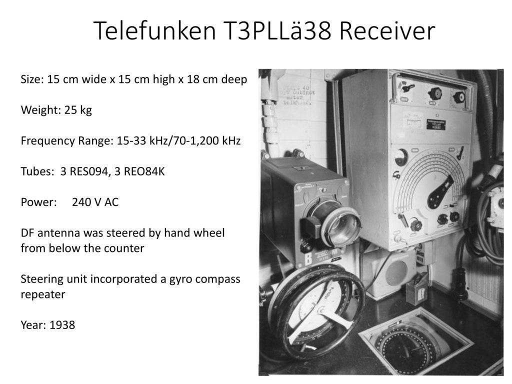 Personnel Equipment Procedures Ppt Download 25 Metres Range Short Wave Am Transmitter 26 Telefunken