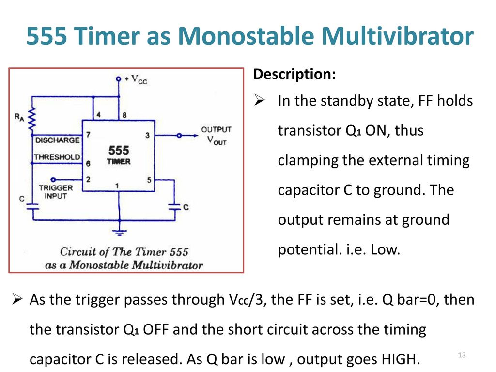 555 Timer Multivibtrator Ppt Download How To Build Monostable Flip Flop As Multivibrator