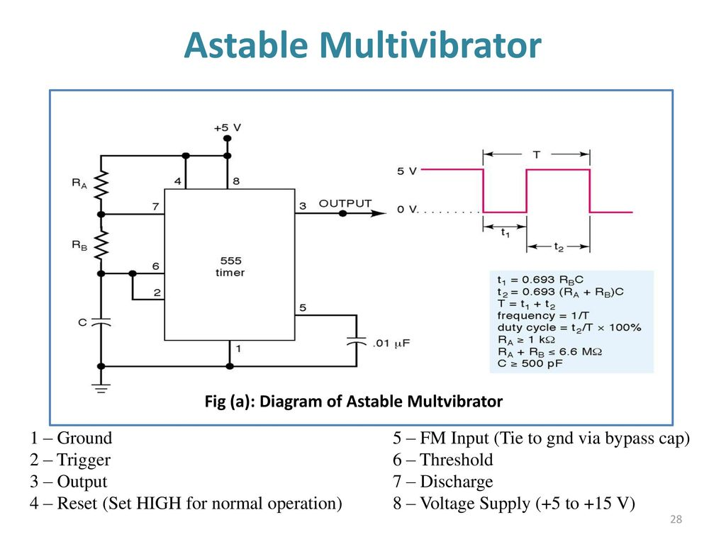 555 Timer Multivibtrator Ppt Download Astable Ic Flasher Circuit Diagram Multivibrator