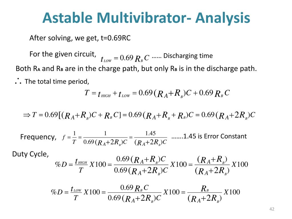 555 Timer Multivibtrator Ppt Download Astable Operation Mode Circuit 42 Multivibrator Analysis
