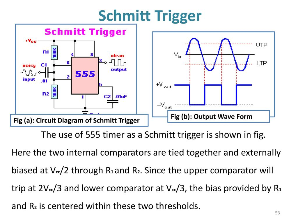 555 Timer Multivibtrator Ppt Download Using Circuit Diagrams 53 Schmitt Trigger The Use Of