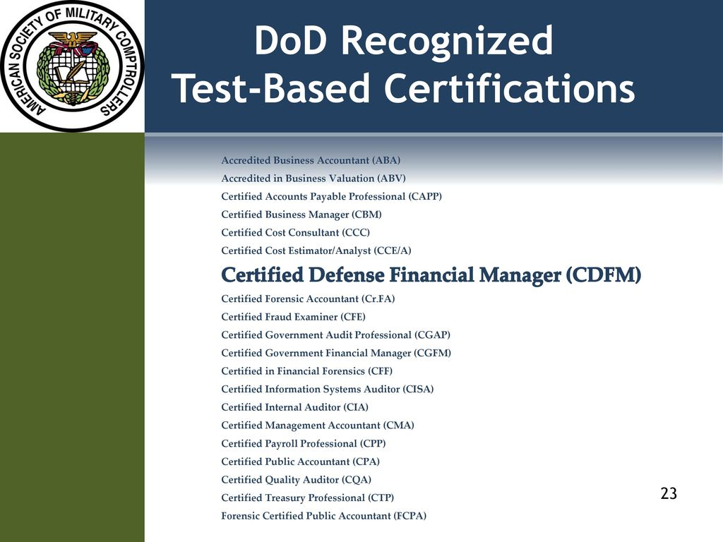 Annual Survey Of Defense Financial Management Executives Ppt Download