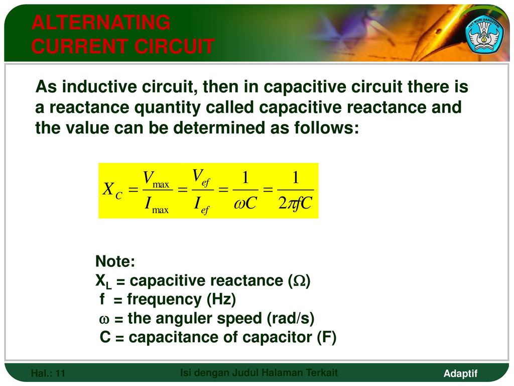 Alternating Current And Voltage Ppt Download Series Rc Circuit Formulas Besides Inductive Reactance Capacitive 12 Combination Circuits