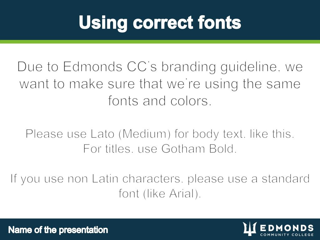 Welcome to the Edmonds CC Powerpoint Template - ppt download