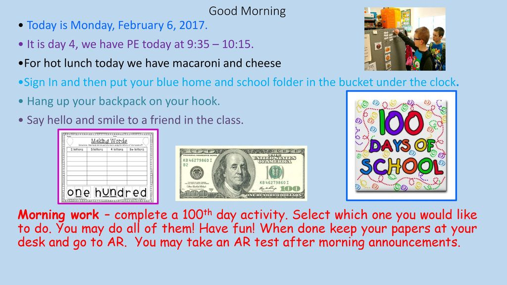 2M Morning Messages February ppt download