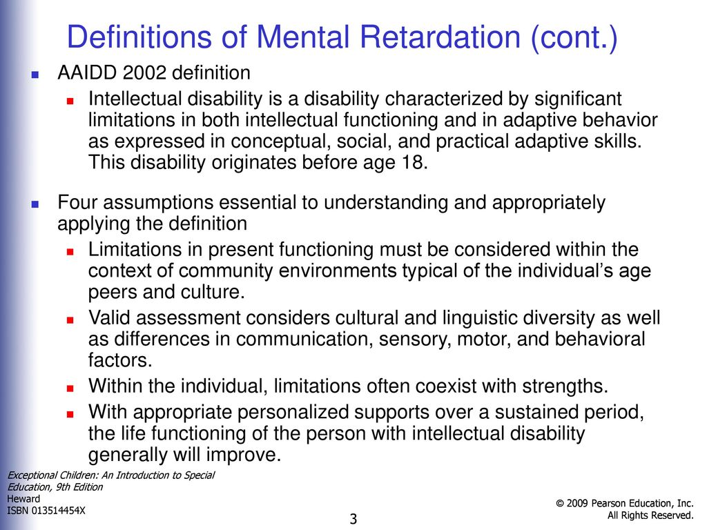 chapter 4 intellectual disabilities - ppt download