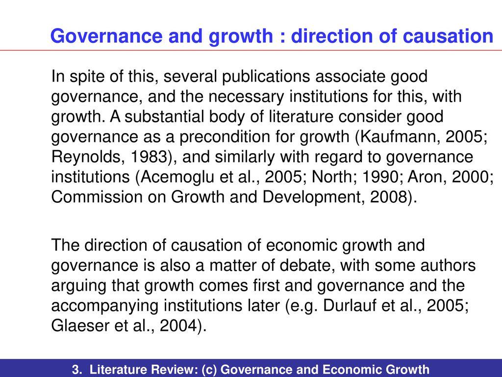 literature review on economic development