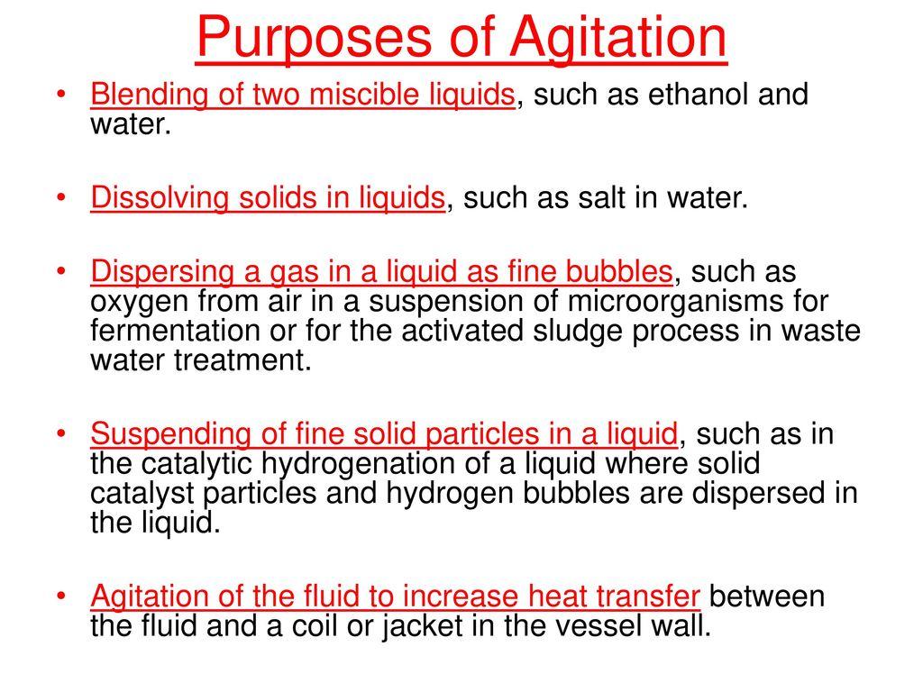 Agitation & Mixing of fluids - ppt download