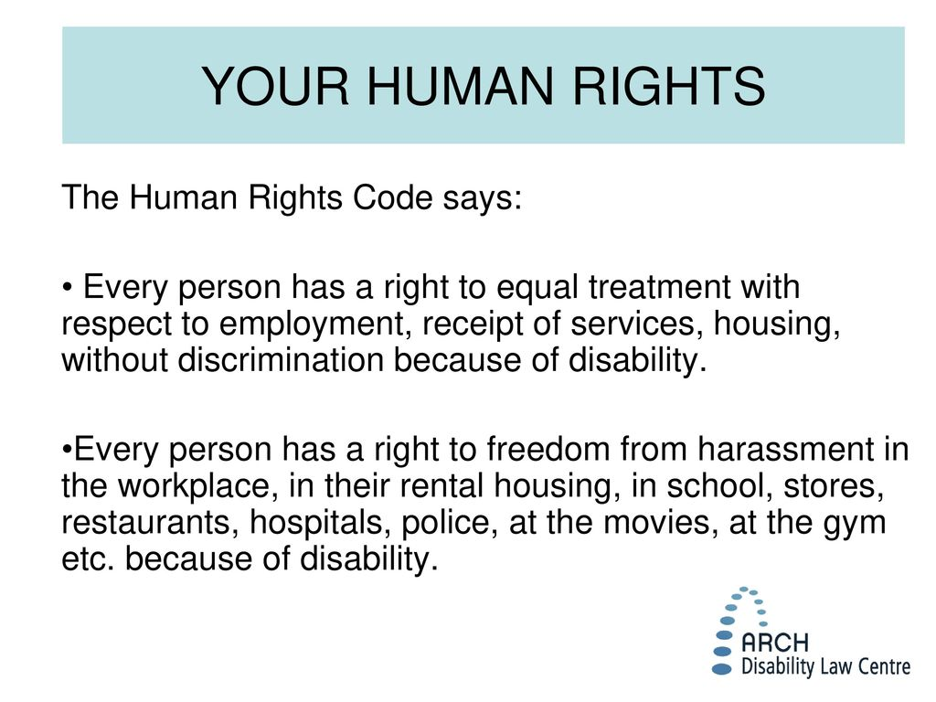YOUR RIGHTS UNDER HUMAN RIGHTS LAWS October 22, ppt video