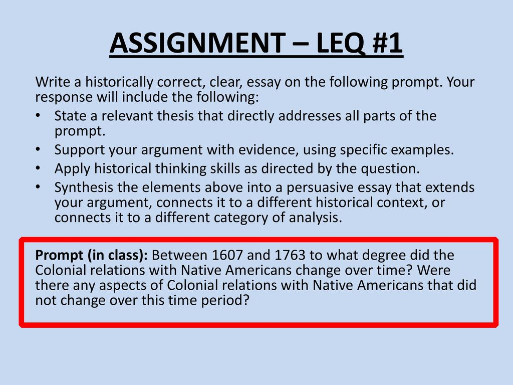 Ignment Leq 1 Write A Histori Y Correct Clear Essay On The Following