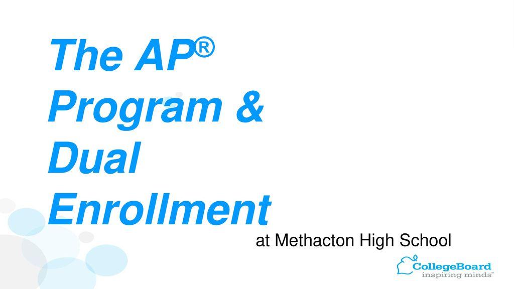 The AP® Program & Dual Enrollment - ppt download