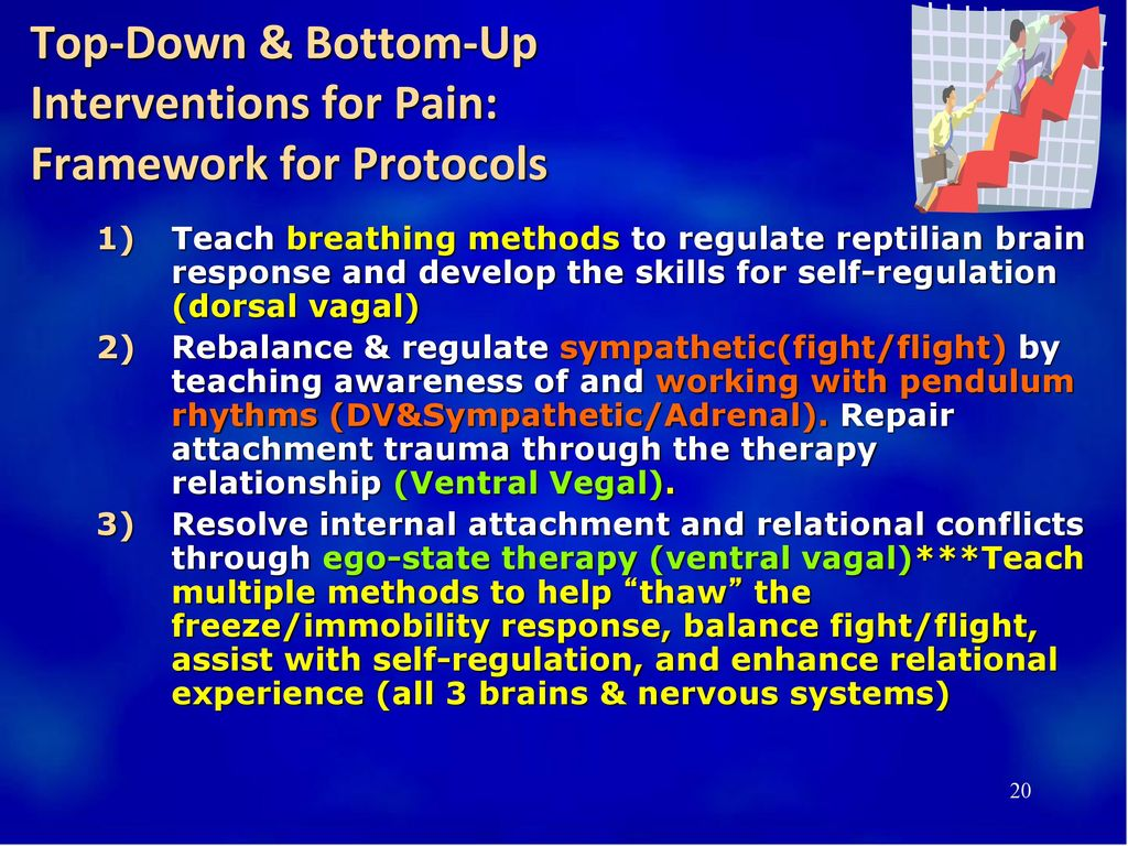 Top-Down & Bottom-Up Interventions for Pain: Framework for Protocols