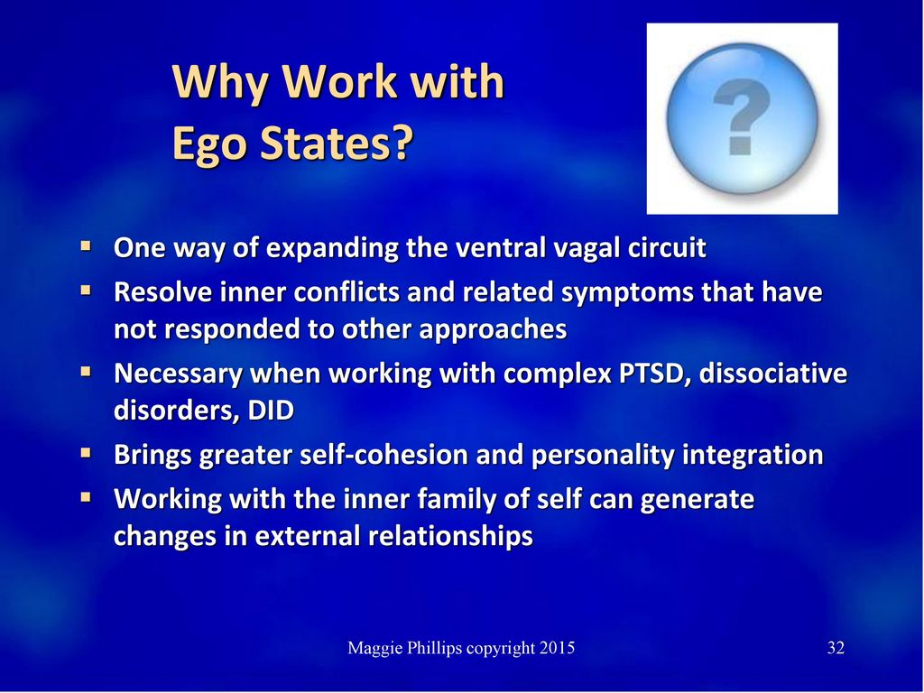 Why Work with Ego States