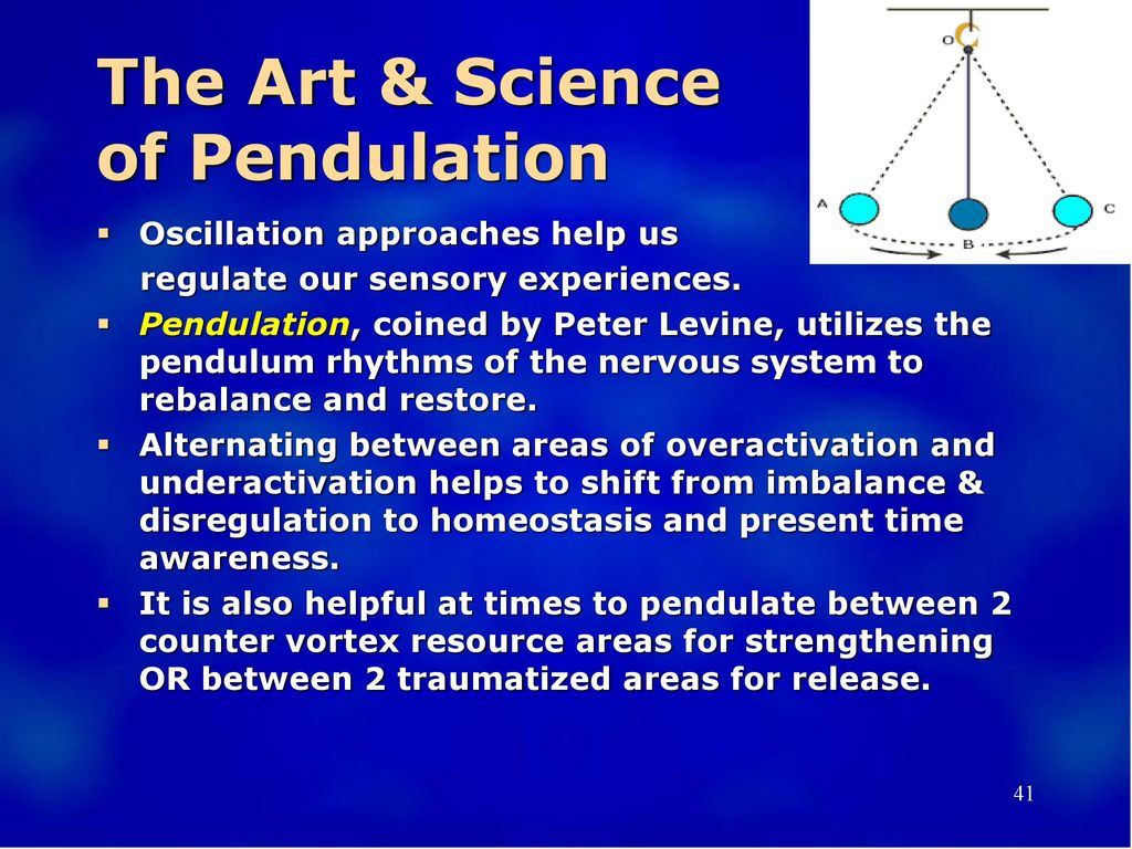 The Art & Science of Pendulation