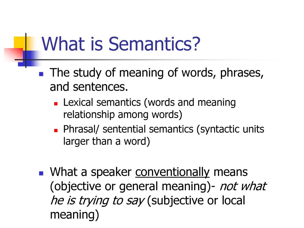 What is semantics 15