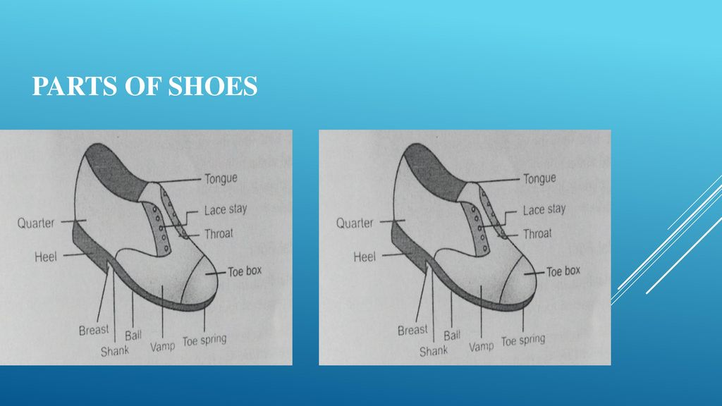 85fe69acf1 Parts of shoes Upper part: Lower part: Quarter Sole Heel counter Shank. 6 Foot  orthosis ...