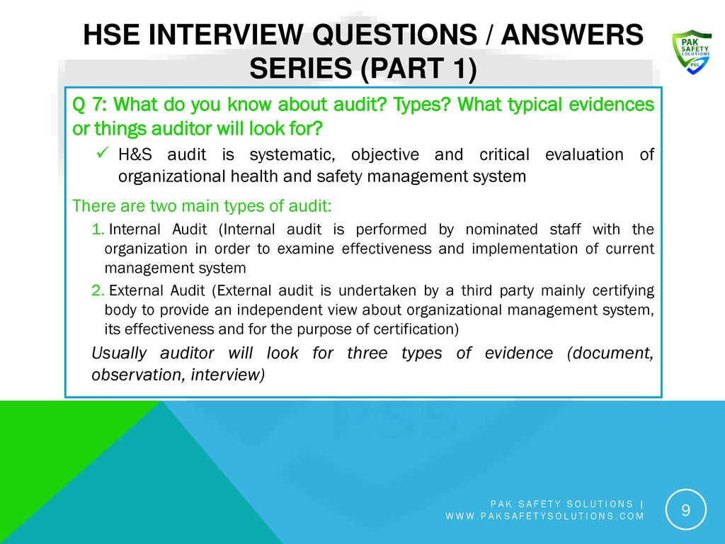 HSE Interview Questions / Answers Series (Part 1) - ppt video online
