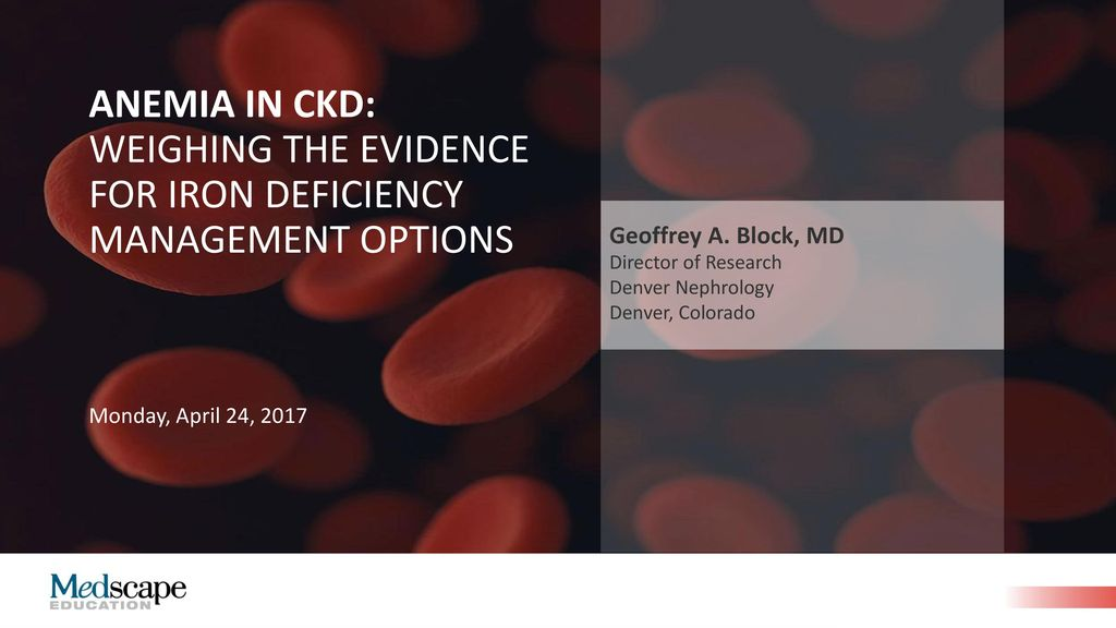 Geoffrey A  Block, MD Director of Research Denver Nephrology