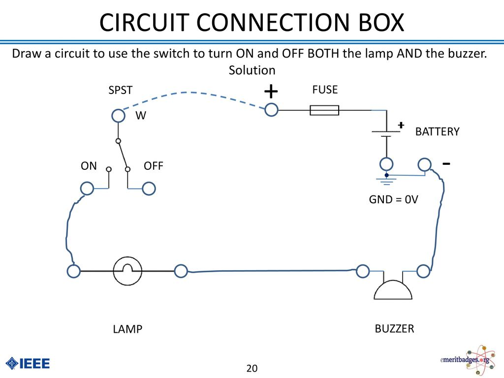 Electronics Merit Badge Ppt Download Buzzer In A Circuit Connection Box