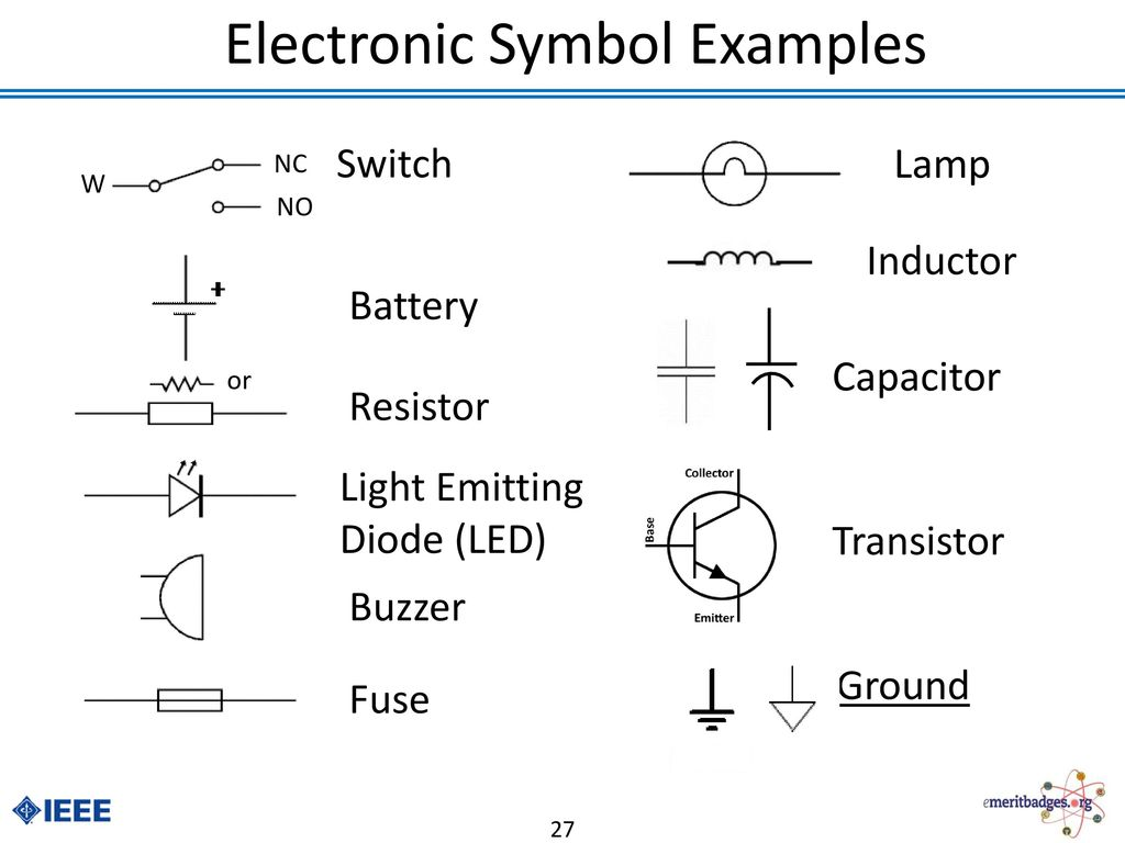 Electronics Merit Badge Ppt Download Printed Circuit Board Symbol Electronic Examples