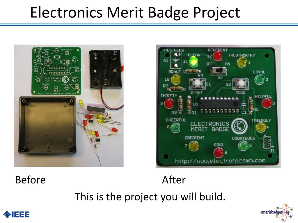Electronics Merit Badge Ppt Download Lesson Electronic Parts Components Pictures To Project