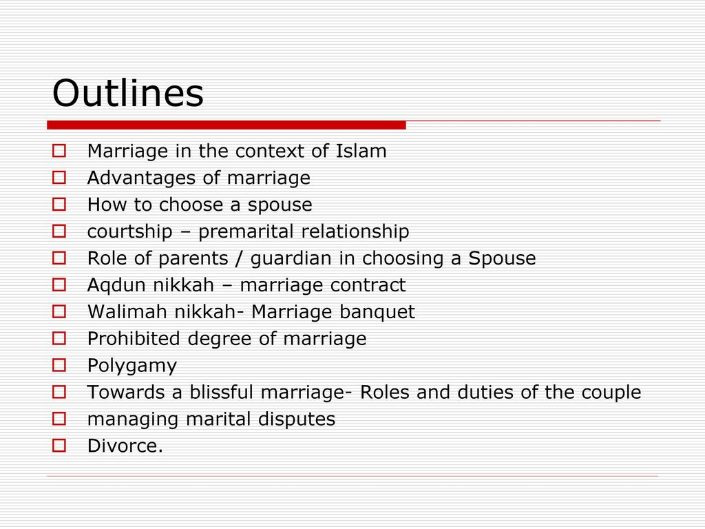 Fundamentals of Marriage in Islam By - ppt download