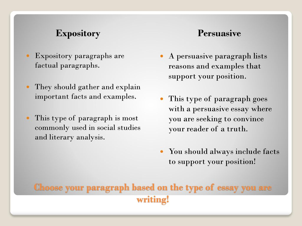 expository paragraph writing examples