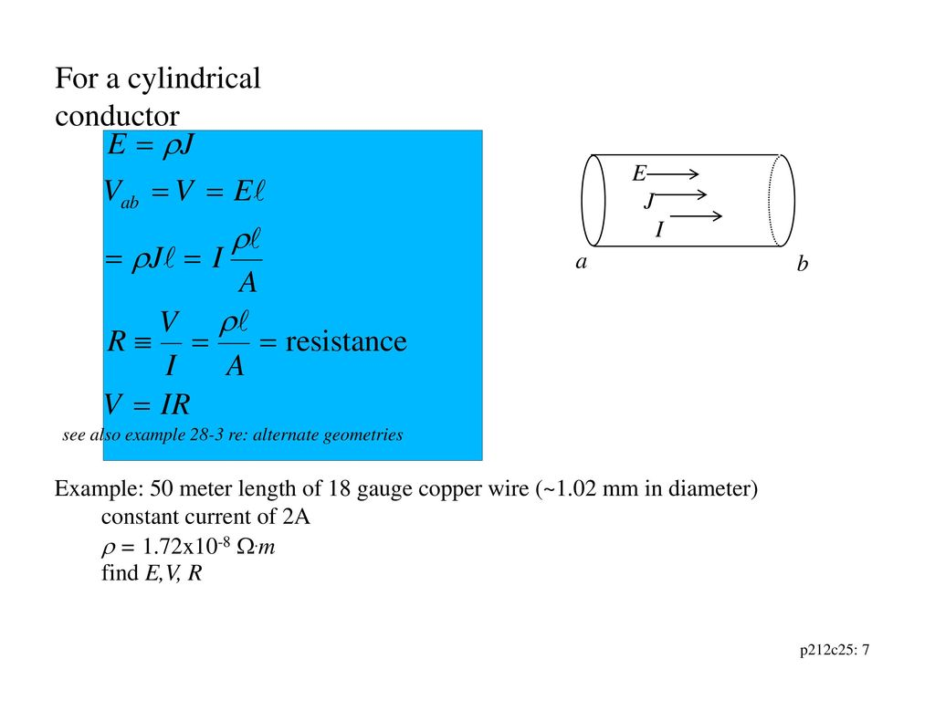 Chapter 25: Current, Resistance and Electromotive Force - ppt download