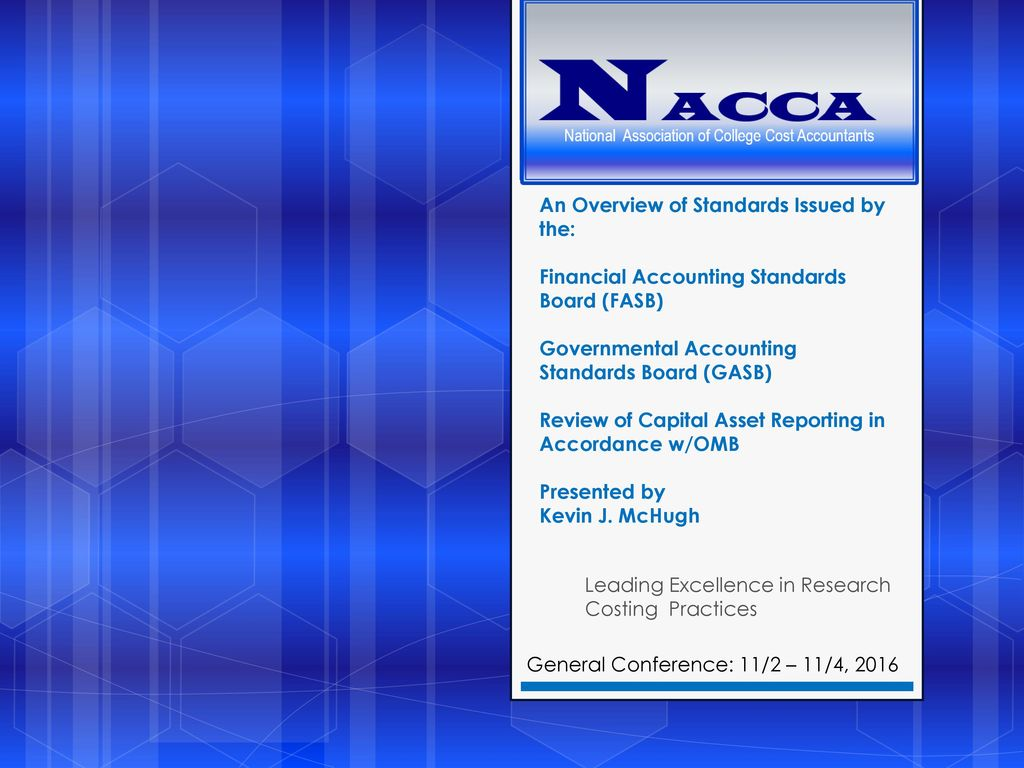 research accounting standards Research financial services is an integral part of that endeavor, overseeing the financial reporting and compliance requirements of all externally sponsored projects our primary goal is to facilitate the management of funds provided to the university by outside entities, in compliance with relevant guidelines, for the purpose of continuing.