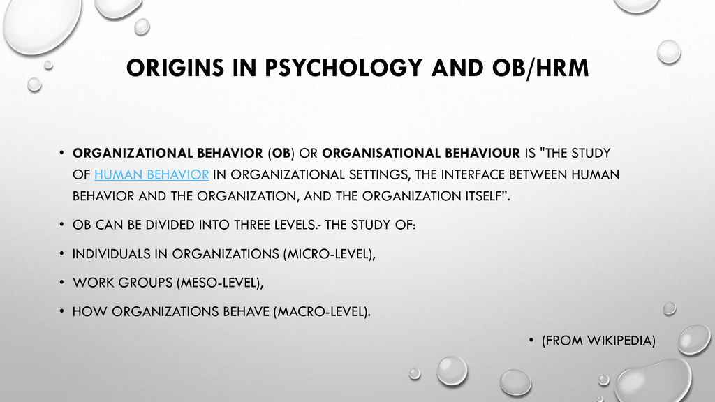 three level model of human behavior