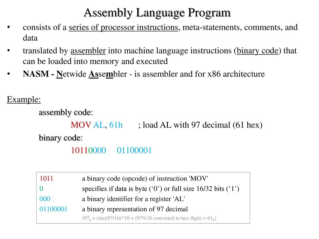 Computer Architecture and Assembly Language - ppt download