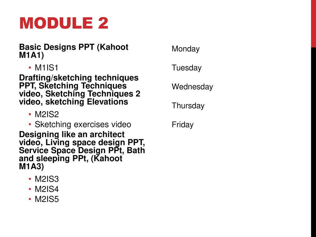 Architectural Design Module 2 Room Planning  - ppt video