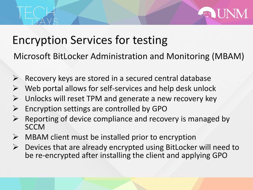 UNM Encryption Services in Development - ppt download