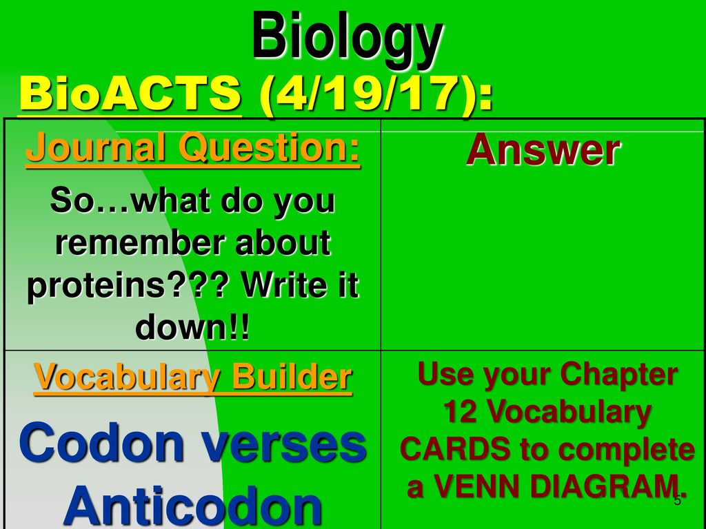 5 biology