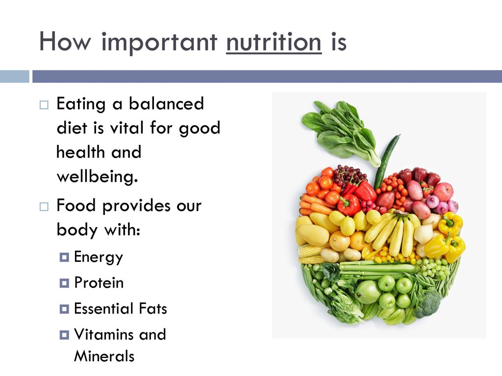 importance of healthy food in our life