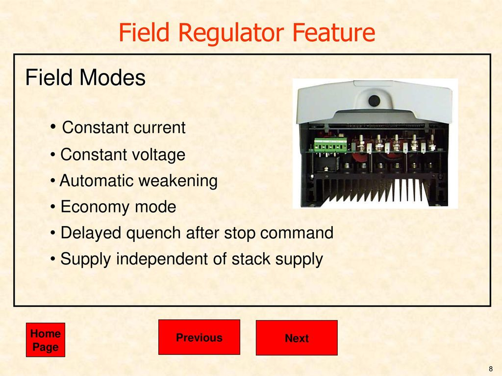 This Presentation Is Driven By The Mouse Or Pointing Device Ppt Ac Constantcurrent Source Design Electrical Engineering Stack 8 Field Regulator Feature